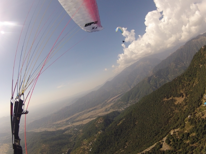 Paraventures flying in Bir, India