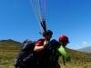Flying tandem at Coronet Peak, NZ